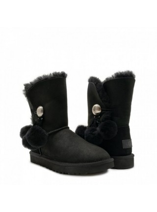 BAILEY BUTTON POM BLACK