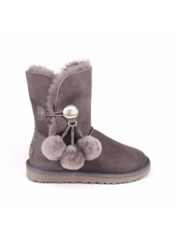 BAILEY BUTTON POM GREY