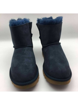 UGG Bailey Bow II Mini Fur Brush Navy