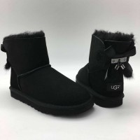 UGG Bailey Bow II Mini Fur Brush Black