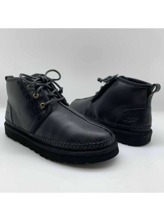 UGG Neumel Stitch Black Leather
