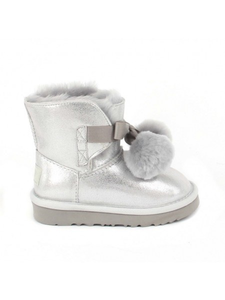 UGG Kid's Gita Metallic Silver