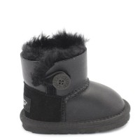 UGG Kids Mini Bailey Button Metallic Black