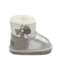 UGG Kids Mini Bailey Button Silver
