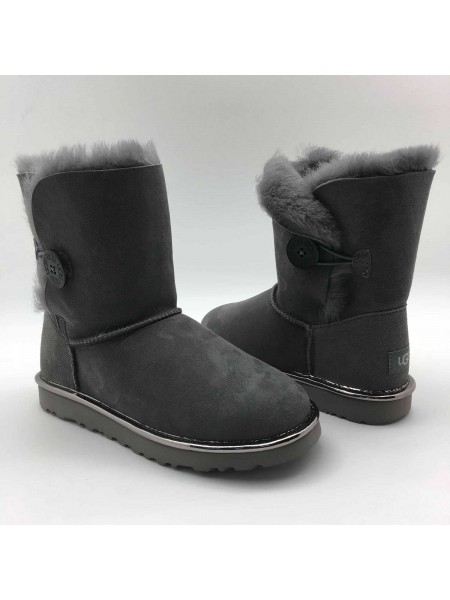 UGG Bailey Button II Metallic Grey