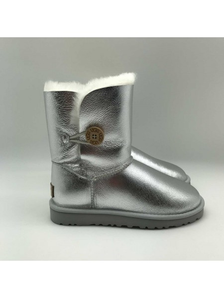 UGG BAILEY BUTTON SILVER