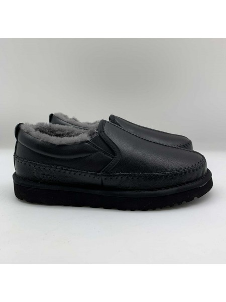 UGG Stich Slip On Men Black Leather