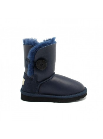 KIDS Bailey Button Metallic Navy