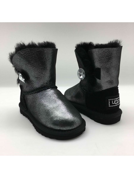 KIDS Bailey Button Glitter Black