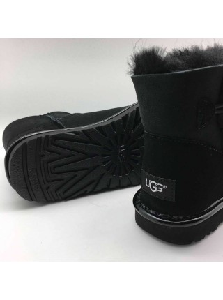 UGG Mini Bailey Button Metallic II Black