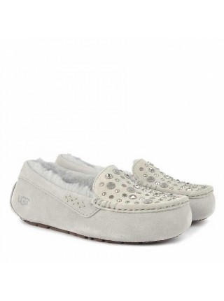 ANSLEY STUDDED BLING GREY SLIPPER