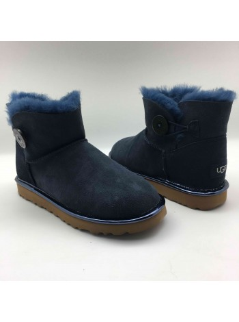 UGG Mini Bailey Button Metallic II Navy