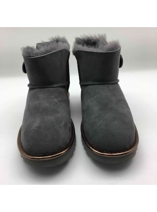UGG Mini Bailey Button Metallic II Grey