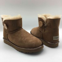 UGG Mini Bailey Button Metallic II Chestnut