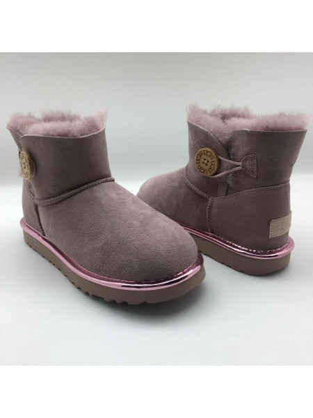 UGG Mini Bailey Button Metallic II Dusk