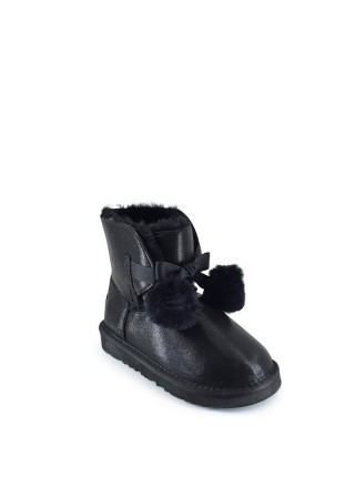 UGG Kid's Gita Metallic Black