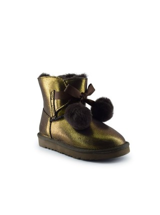 UGG Kid's Gita Metallic Chocolate