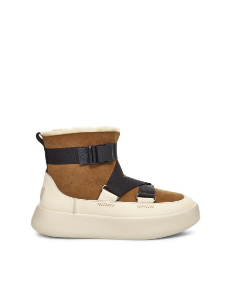 UGG CLASSIC BOOM BUCKLE WHITE