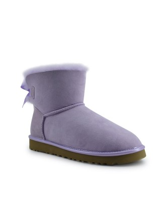 UGG Mini Bailey Bow II Metallic Lavender