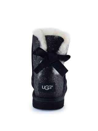 UGG Women's Mini Bailey Bow Sparkle Fashion Black