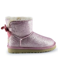 UGG Women's Mini Bailey Bow Sparkle Fashion Pink