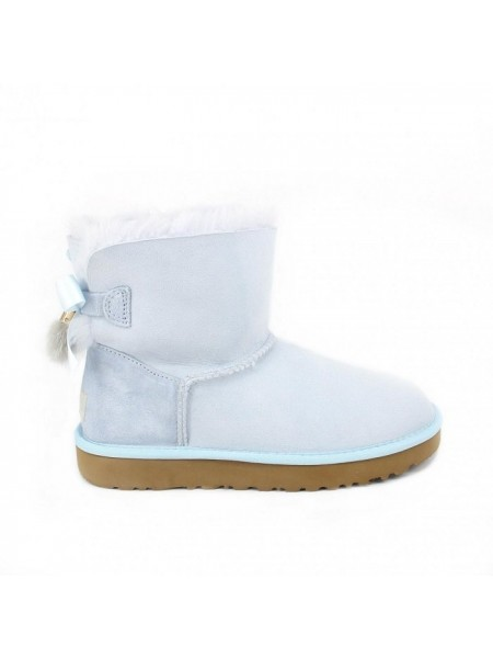 UGG Mini Bailey Bow Tassel Iceberg