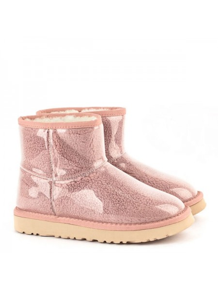 UGG Isabelle Transparent Mini Waterproof Boot Pink