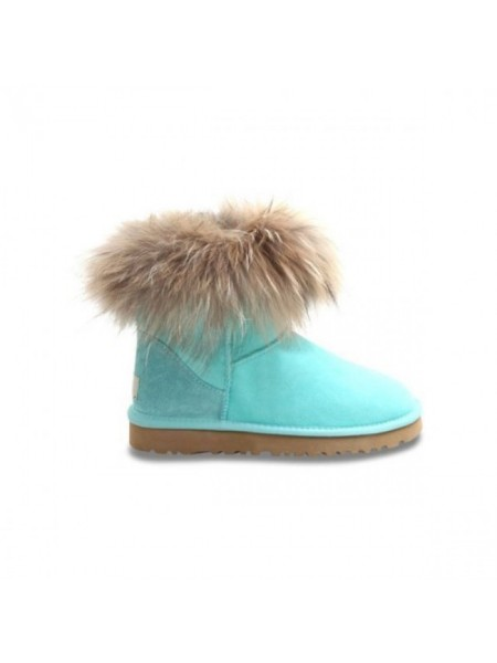 Mini Fox Fur Aqua