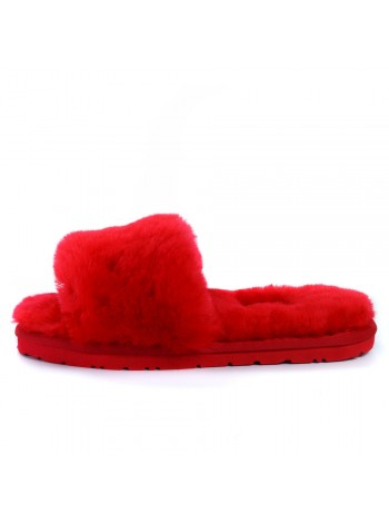 UGG Fluff Slide Slippers Red