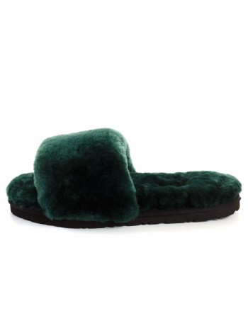 UGG Fluff Slide Slippers DARK GREEN