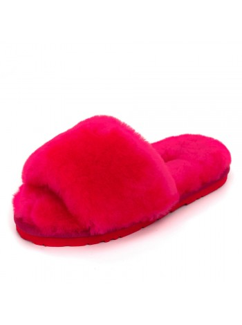 UGG Fluff Slide Slippers Rose Red