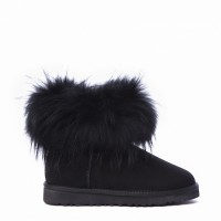 Mini Fox Fur Total Black