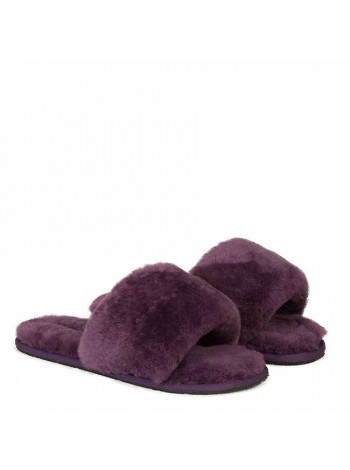 Fluff Slide Slippers Violet