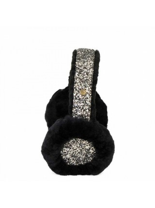 Earmuff Sequins Black