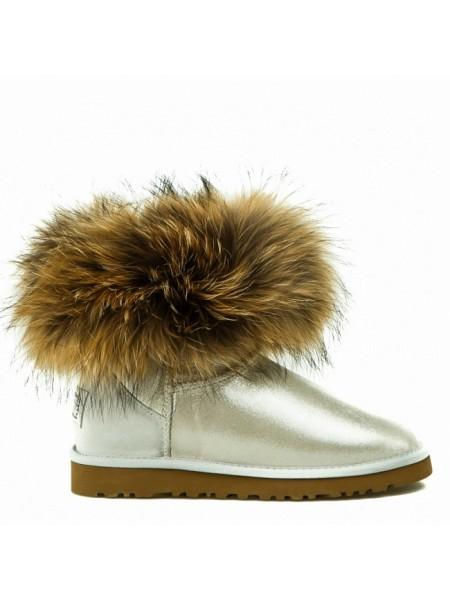 Fox Fur Mini Glitter White